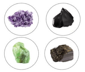 amethyst jade tourmaline crystals for far infrared and obsidian
