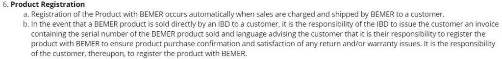 bemer product registration